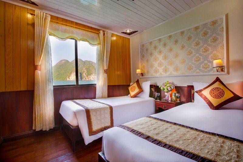 không gian phòng ngủ du lịch hạ long ban đêm