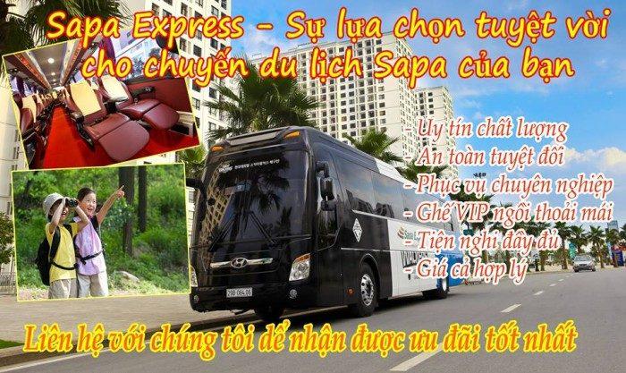 Xe SaPa Express đi SaPa khởi hành từ Hà Nội